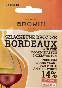 Drożdże do wina płynne BORDEAUX 20ml