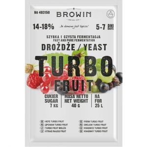 Drożdże winiarskie Browin TURBO Fruit 5-7 dni